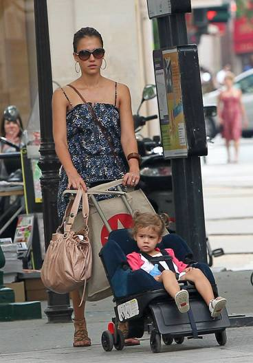 celebrity moms seen using gerard darel bags as fashionable diaper bags. Black Bedroom Furniture Sets. Home Design Ideas