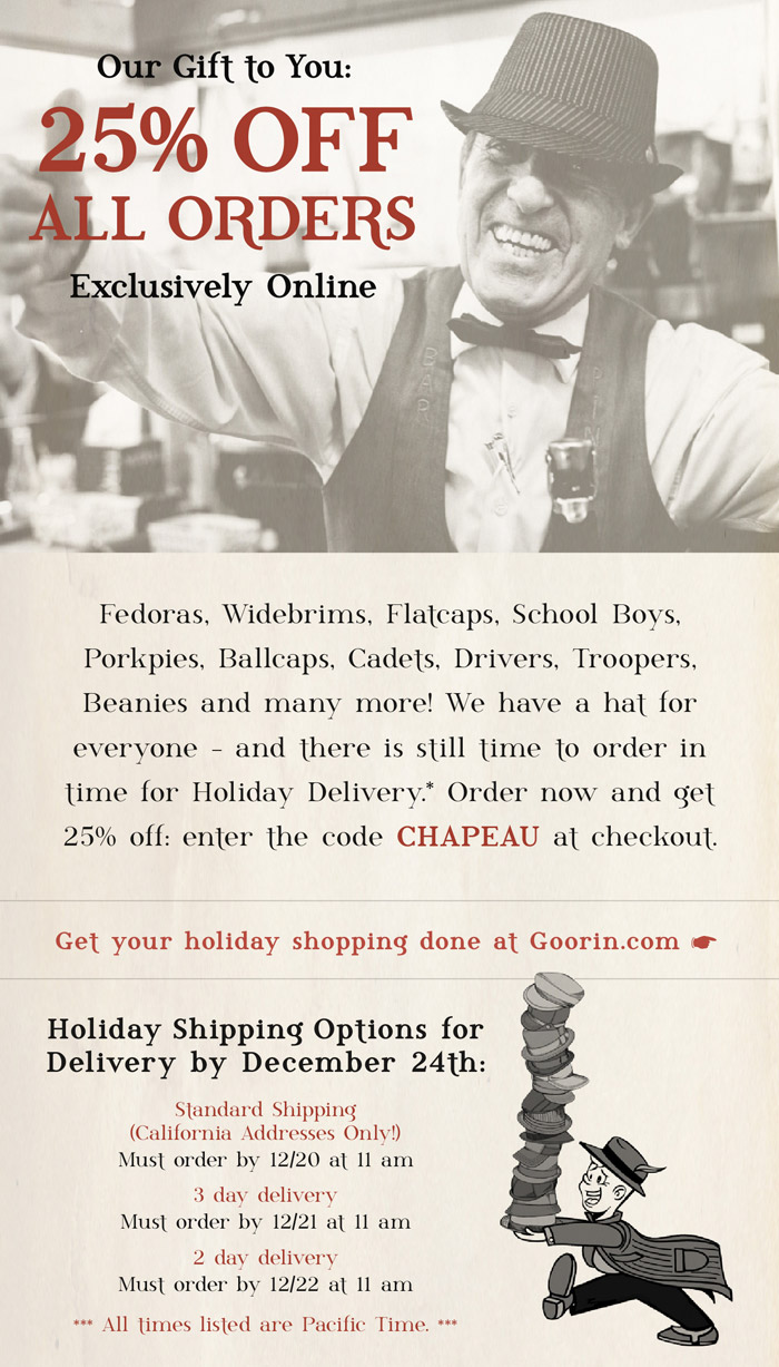Goorin brothers coupon code