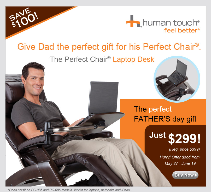 A Gift for Dad from Perfect Chair Laptop Desk