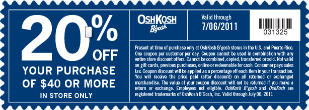 Oct 02,  · Oshkosh Coupons for Kids, Baby, and Children OshKosh B Gosh is having sale up to 50% off entire site and store. Shipping is free on $50+ or choose free Shipping is free on $50+ or choose free in-store pickup.5/5(7).
