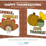 Free Thanksgiving Cards From Company Kids!