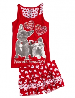 justice heart pajama set 3090 this adorable two piece pajama set is cute enough for valentines day and everyday afterwards your tween daughters will - Valentines Day Pajamas
