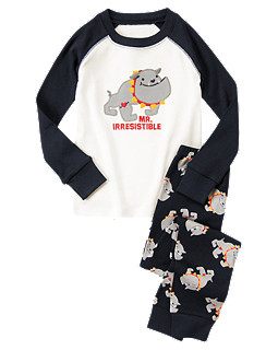 Mr. Irresistible Bull Dog Pajama Set For Boys  ($14.99) We Think This  Adorable Set From Gymboree Is Perfect For Your Little Boy.