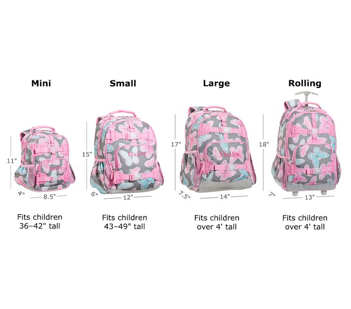 4db351578b4c ... and the large backpacks are perfect for middle school aged kids and  small high school kids. The rolling pack is perfect for older kids who need  ...