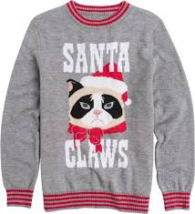 santa claws sweater 4495 this cheeky sweater will look good on either boys or girls not to mention little fans of grumpy cat will fall in love with it