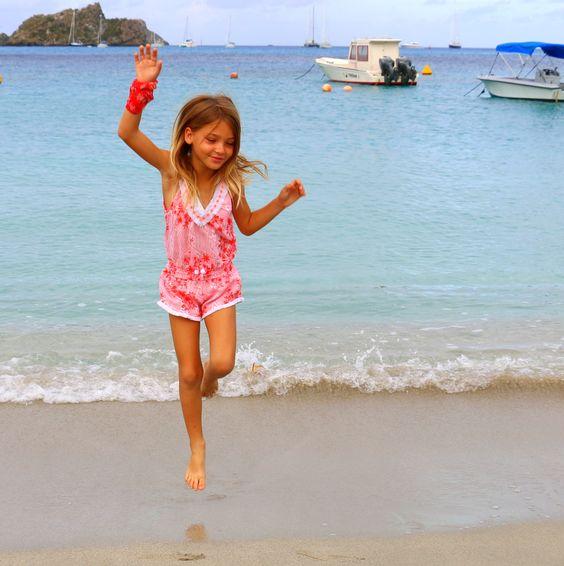 little girl beach swimsuit