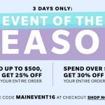 It's time for SHOPBOP'S Huge Sale Event!