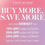 Starting Now: SHOPBOP 5 Day 'Buy More Save More Sale'!